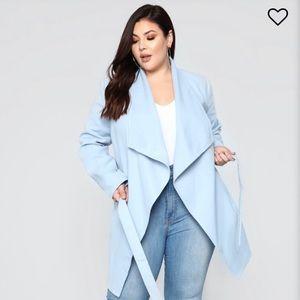Fashion Nova Tie-front Manhattan Coat